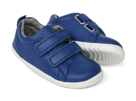 Bobux Toddler Grass Court Leather Trainer (Blueberry)